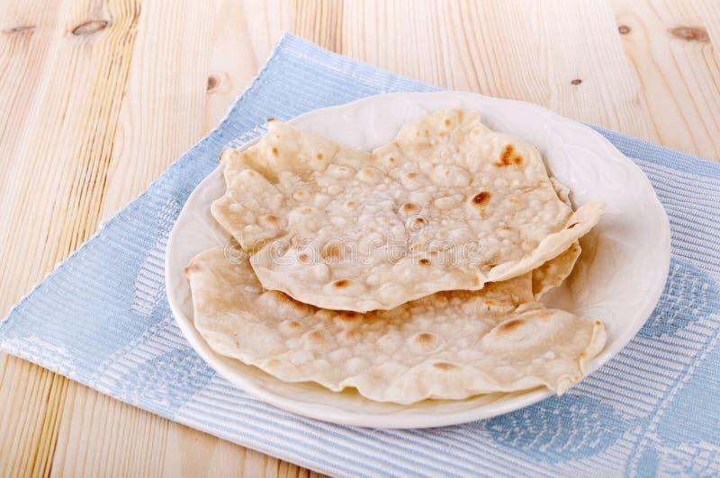 Chapatti ou Roti indiano imagem de stock