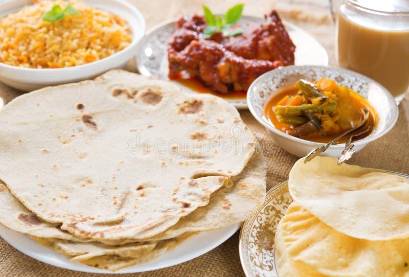Chapatti roti ή επίπεδο ψωμί στοκ φωτογραφία