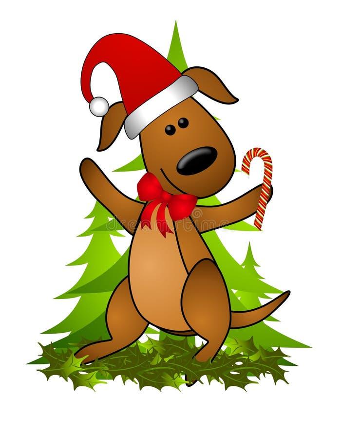 Chapeau 2 de Santa de crabot de Noël illustration de vecteur