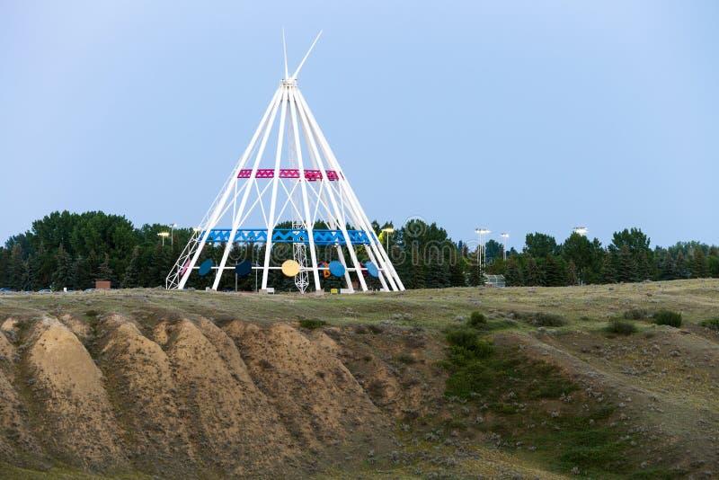 Chapeau Alberta de médecine de tepee de Saamis photos stock