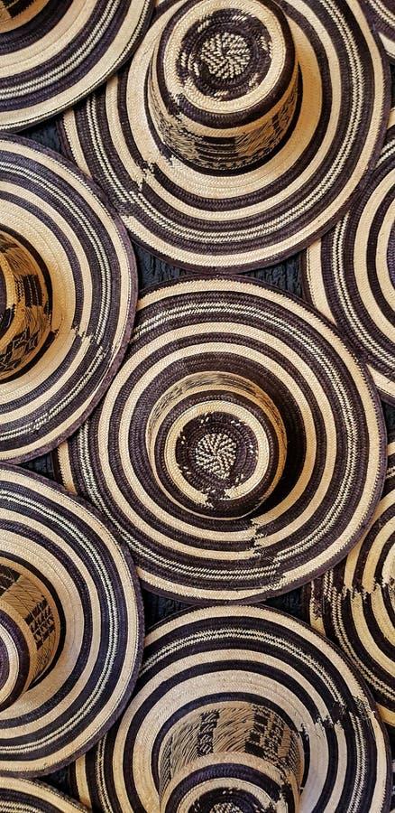 Chapeau assez colombien Typique handcraft images stock