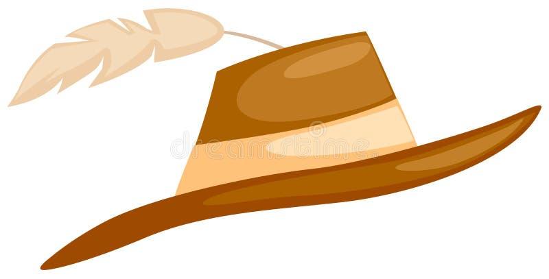 Chapeau avec la clavette illustration stock