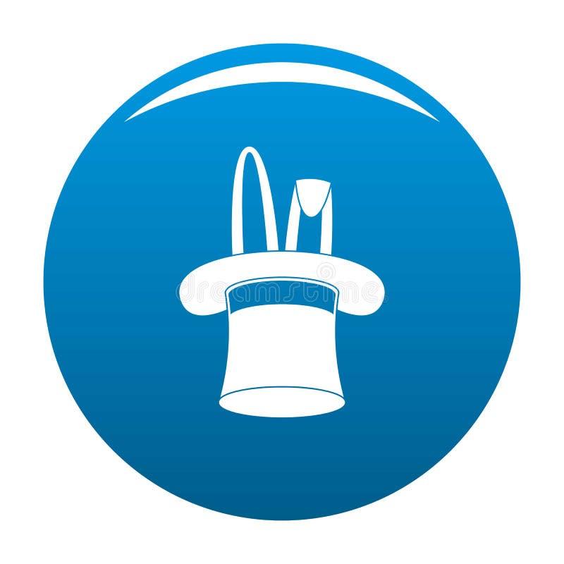 Chapeau avec le vecteur de bleu d'icône de lapin illustration libre de droits