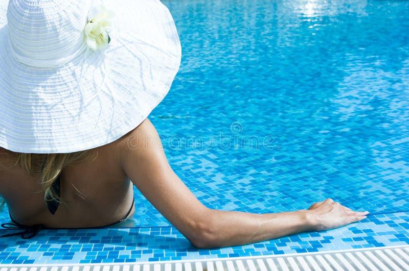 Chapeau blanc photographie stock