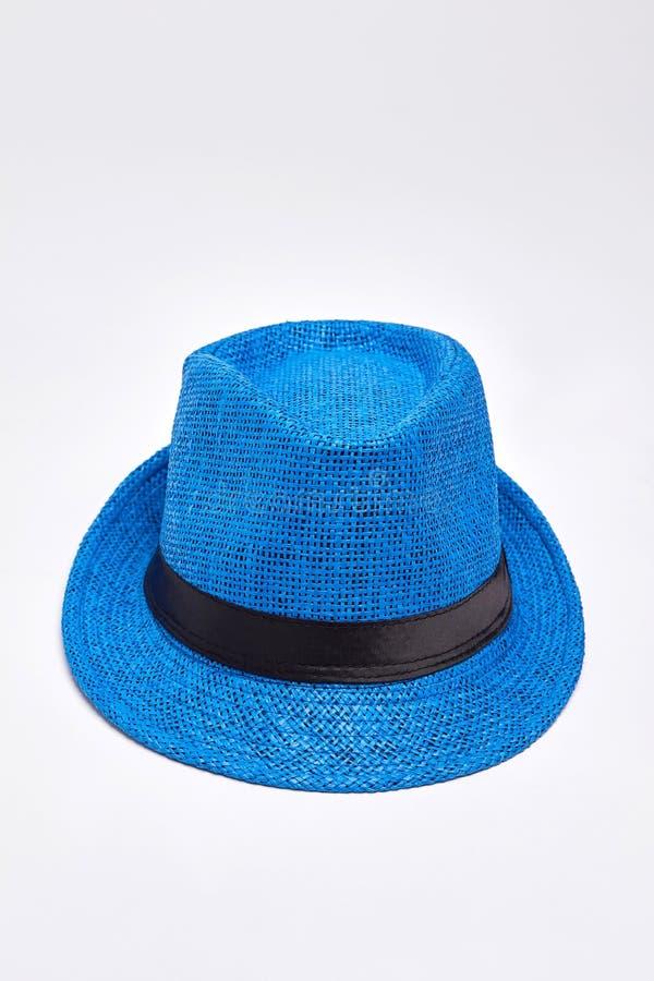 Chapeau bleu unisexe, vue supérieure photographie stock libre de droits