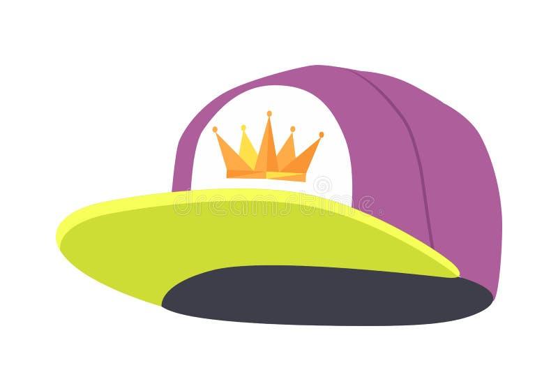 Chapeau coloré masculin de coup sec et dur Illustration d'isolement illustration stock