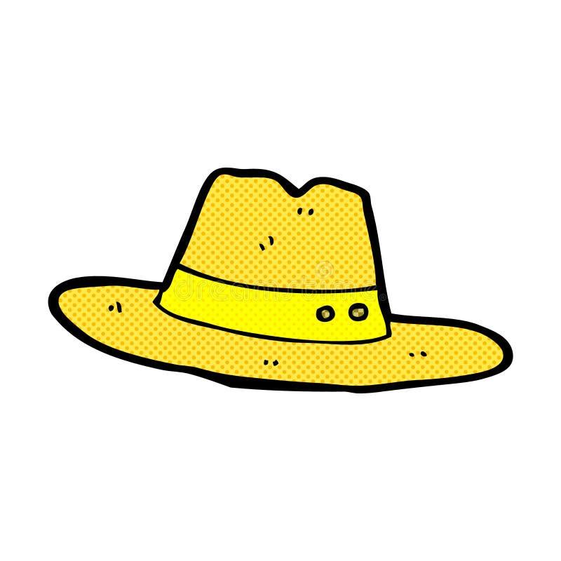 chapeau comique de bande dessinée illustration libre de droits