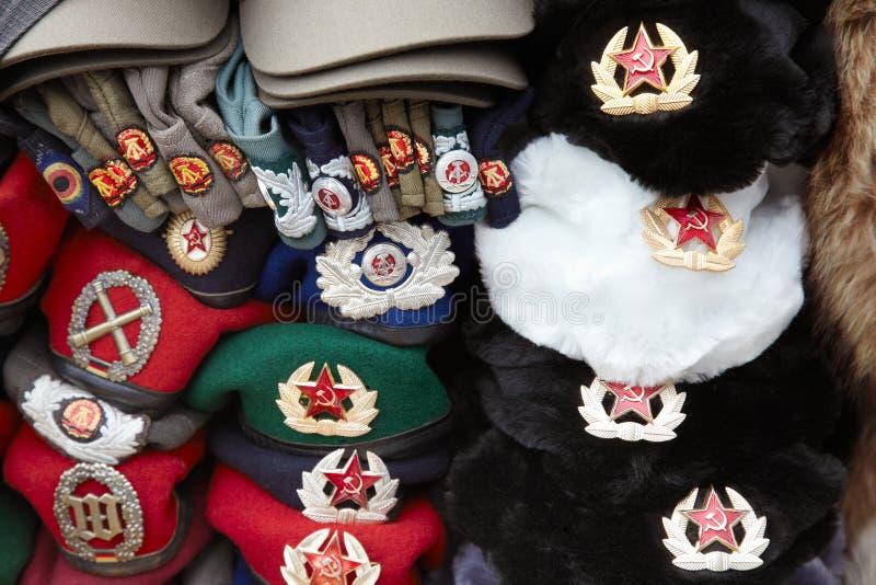 Chapeau communiste d'étoile rouge, côté Ouest Berlin images stock