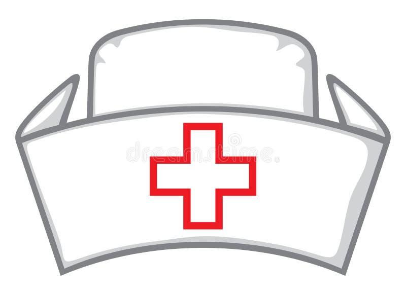 Chapeau d'infirmière illustration de vecteur