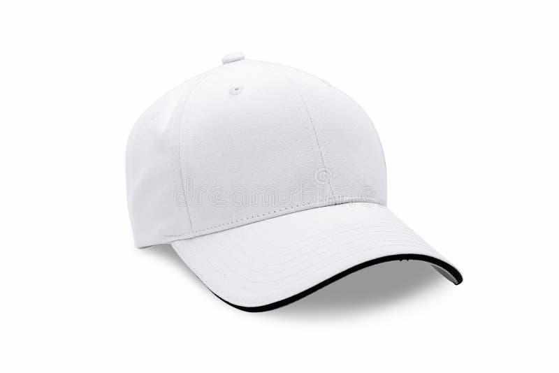 Chapeau d'isolement sur le fond blanc Casquette de baseball photos libres de droits
