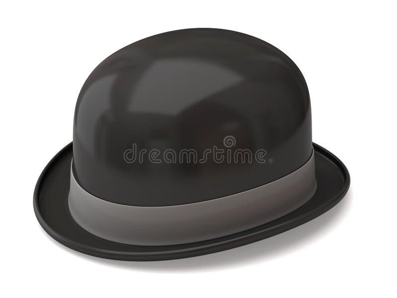 Chapeau de chapeau melon illustration libre de droits