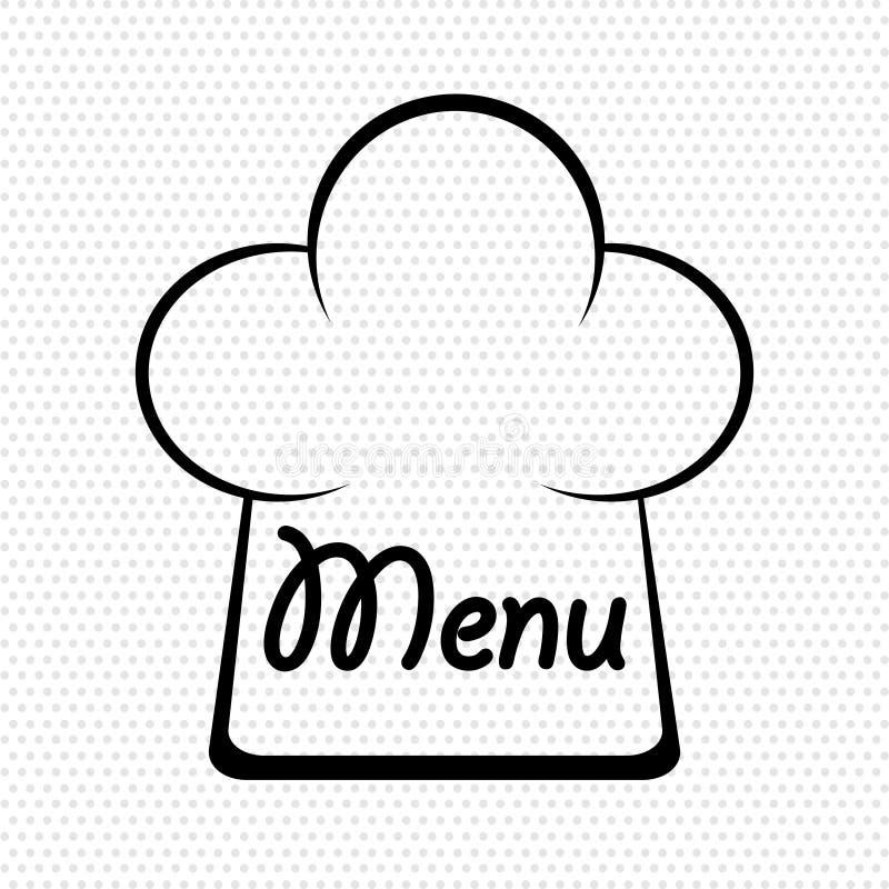 Chapeau de chef dans l'illustration de vecteur d'actions de conception de menu illustration libre de droits