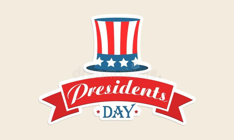 Chapeau de couleur de drapeau américain pour la célébration des Présidents Day illustration de vecteur