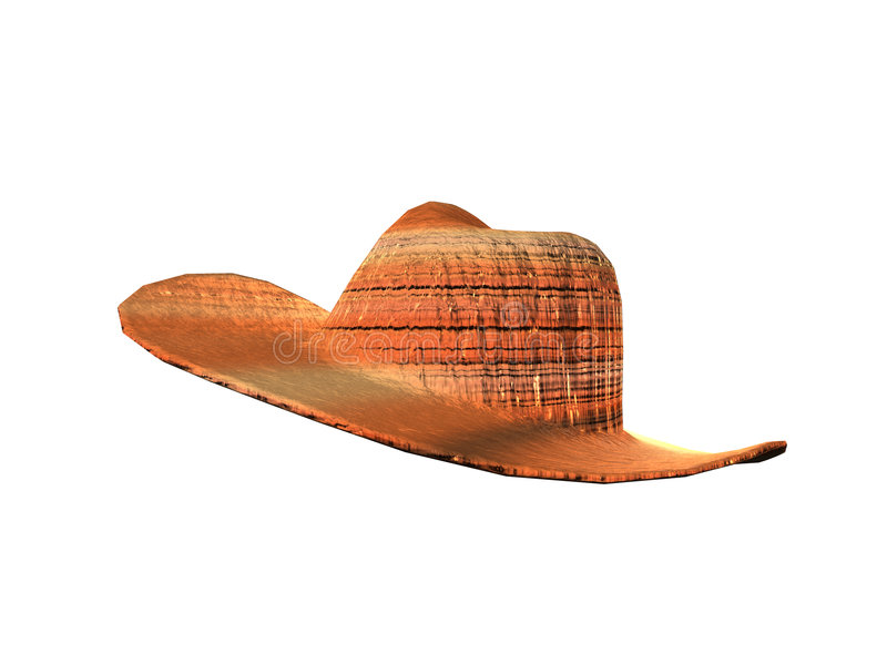 Chapeau De Cowboy éliminé Photo libre de droits