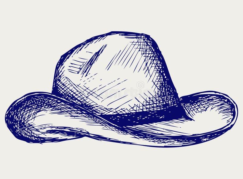 Chapeau de cowboy illustration libre de droits