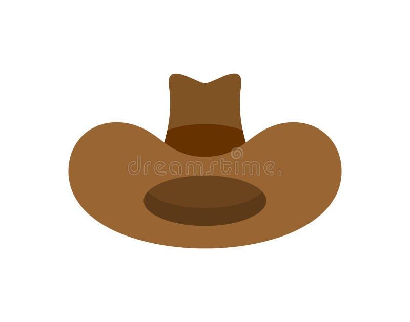 chapeau de cowboy d'isolement accessoire occidental Chapeau occidental sauvage Illustration de vecteur illustration libre de droits