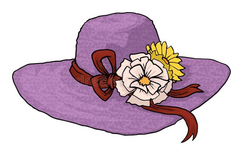 Chapeau de dame rose illustration de vecteur