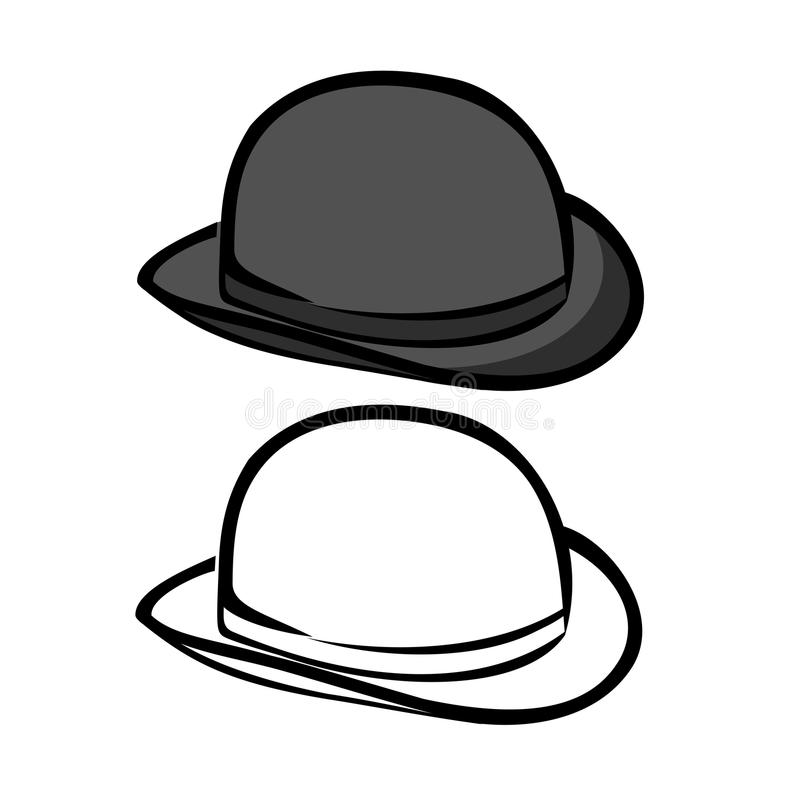 Chapeau de lanceur illustration de vecteur