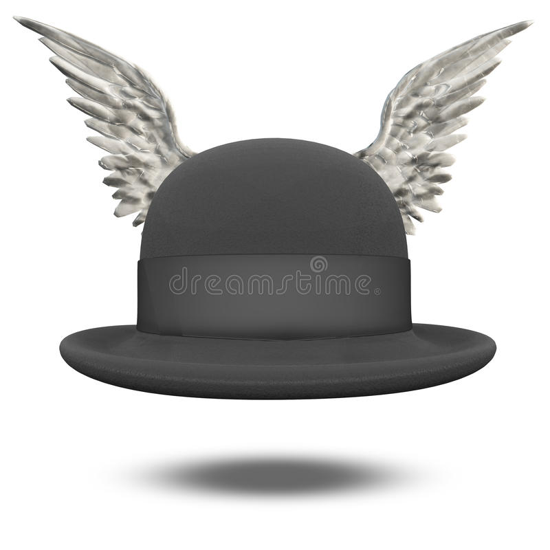 Chapeau de lanceur avec des ailes illustration de vecteur