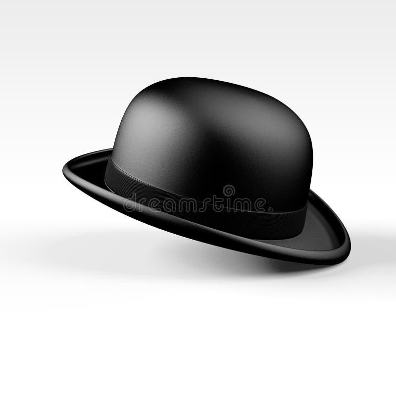 Chapeau de lanceur noir illustration stock