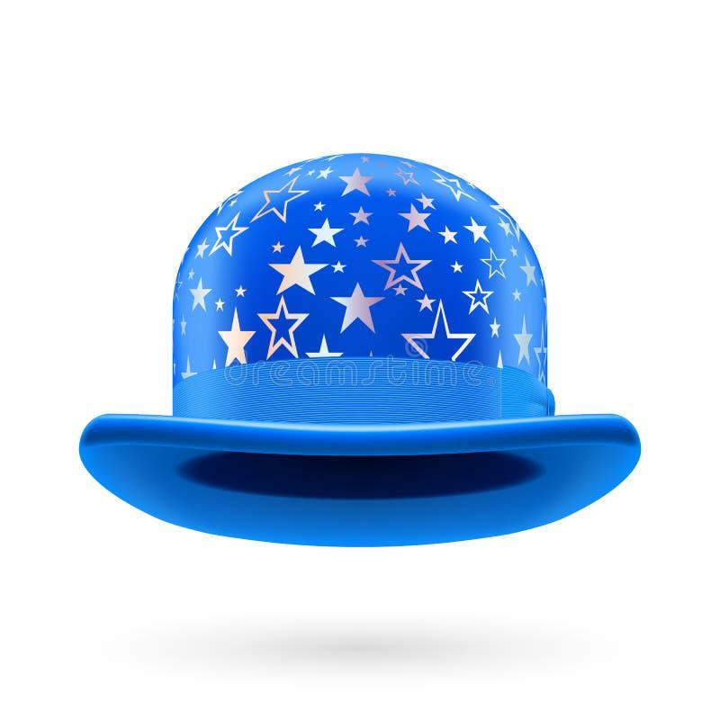 Chapeau de lanceur tenu le premier rôle par bleu illustration libre de droits