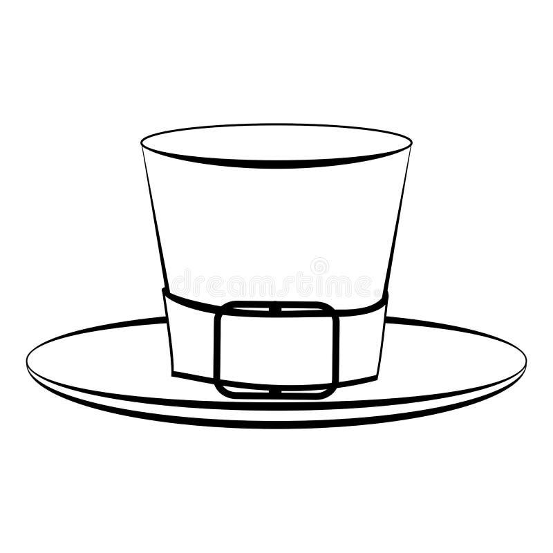 Chapeau de lutin illustration de vecteur