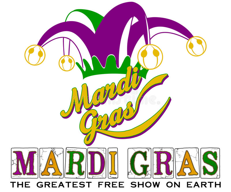 Chapeau de Mardi Gras New Orleans Jester illustration libre de droits