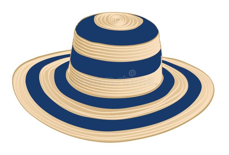 Chapeau de paille d'été illustration de vecteur