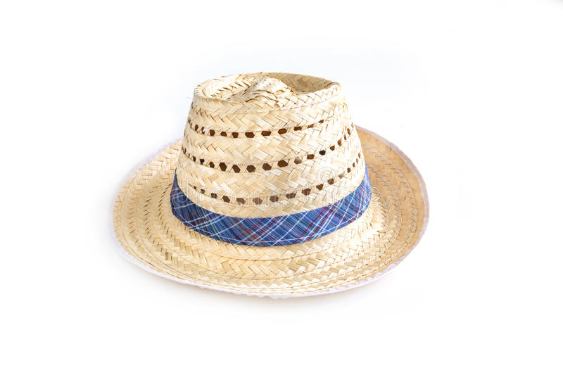 Download Chapeau De Paille D'isolement Sur Le Blanc Photo stock - Image du fond, blanc: 56485928