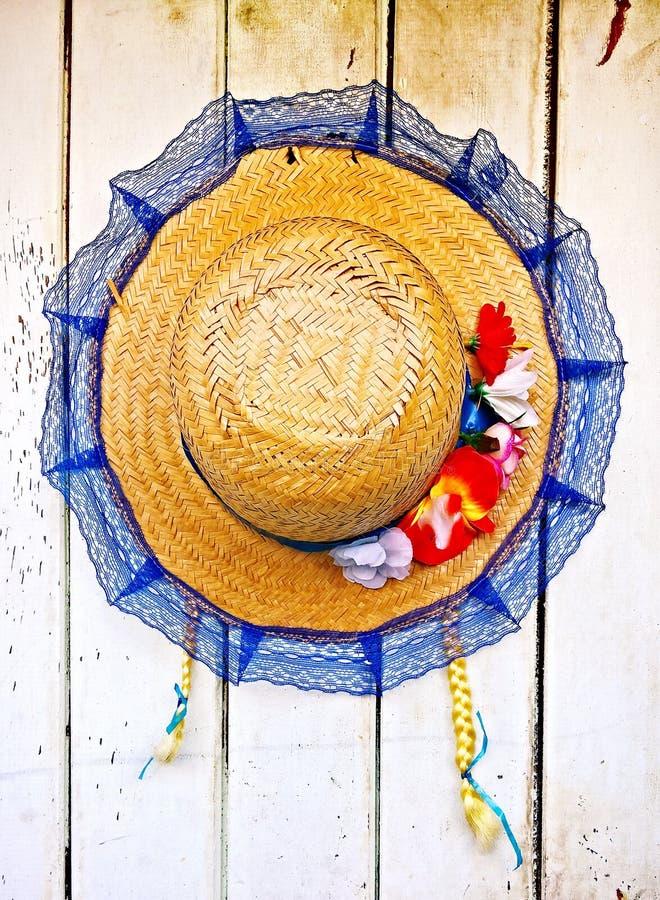Chapeau de paille typique du São João Festade photo libre de droits