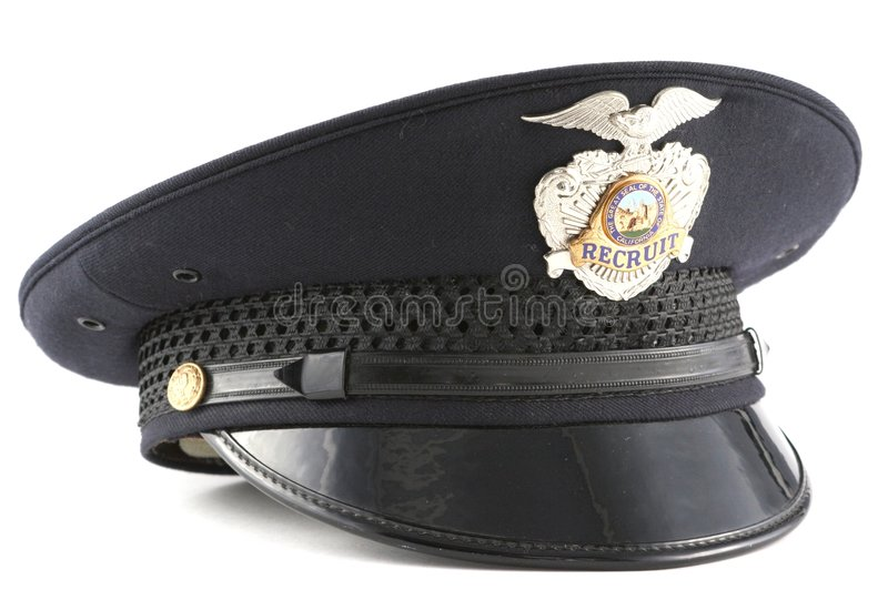 Chapeau de police photo libre de droits