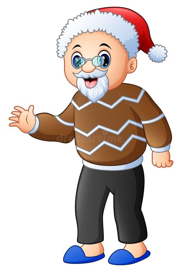 Chapeau de port première génération heureux de Santa illustration de vecteur
