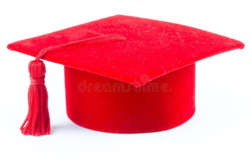 Chapeau de rouge de graduation photos stock
