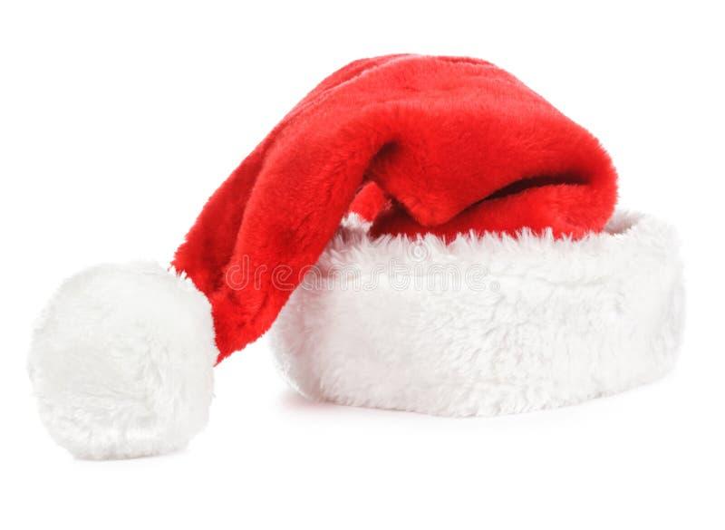 Chapeau De Rouge De Santa Image libre de droits