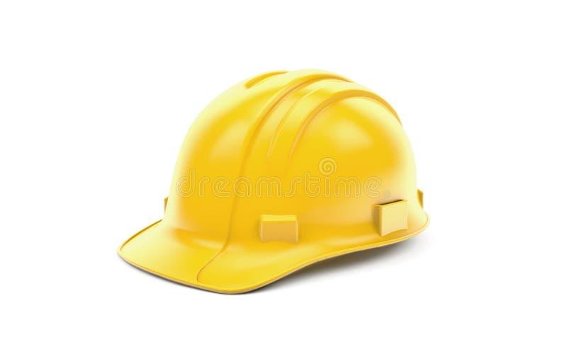 Chapeau de sécurité jaune illustration stock