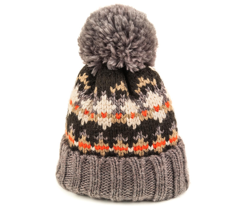 Chapeau de tricotage sur le blanc photos libres de droits
