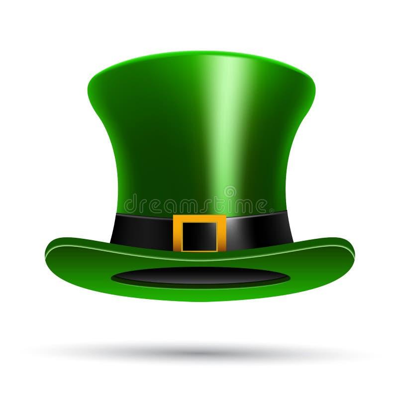 Chapeau du jour de St Patrick vert illustration de vecteur