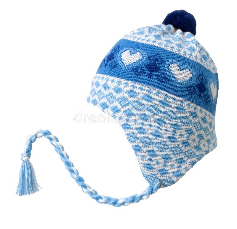 Chapeau en laine d'hiver images libres de droits