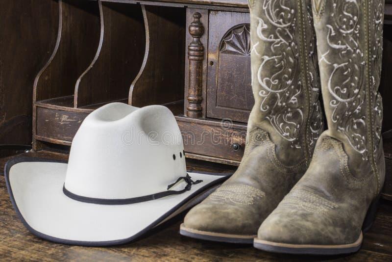 Chapeau et gaines de cowboy images libres de droits