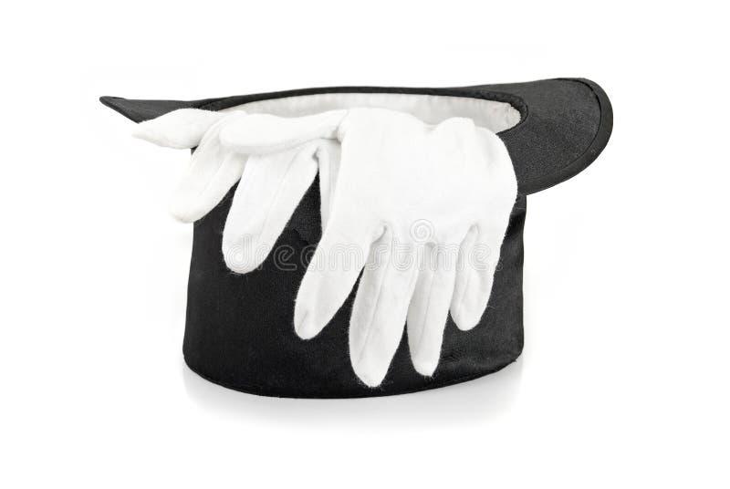 Chapeau et gants de magie noire photos libres de droits