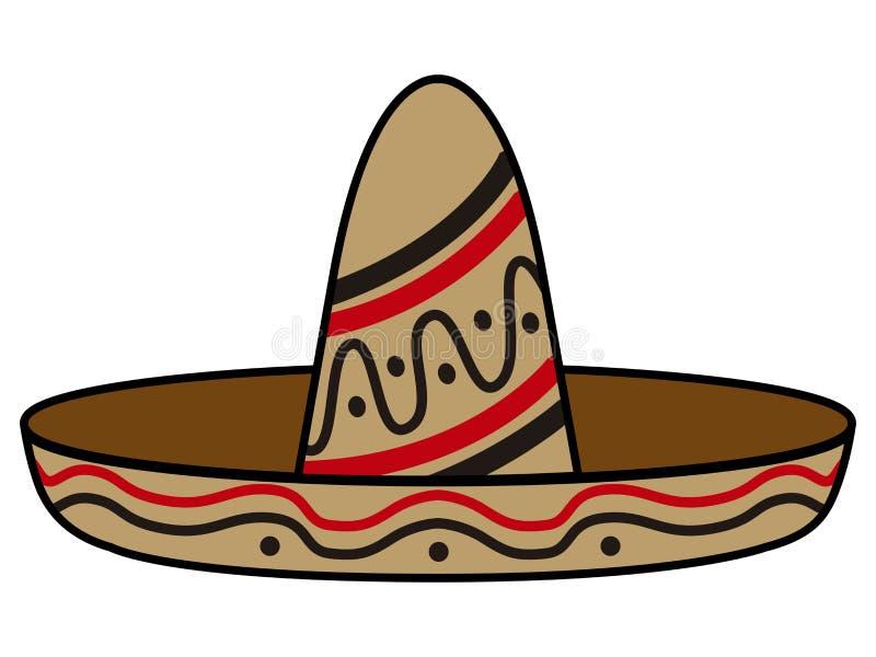 Chapeau mexicain d'isolement illustration de vecteur