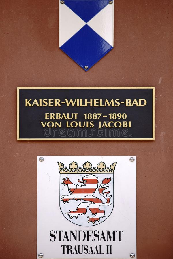 Chapeau mou du mauvais de Kaiser-Wilhelm-bain de signe photographie stock libre de droits
