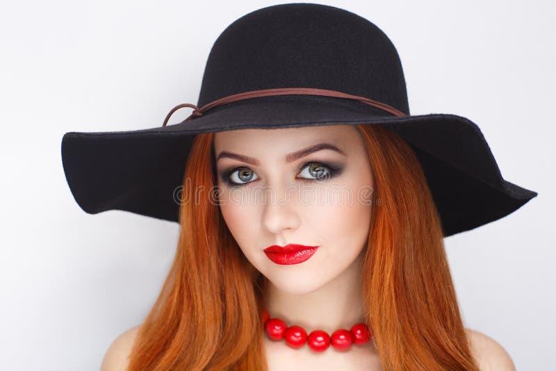 Chapeau noir de femme photos libres de droits