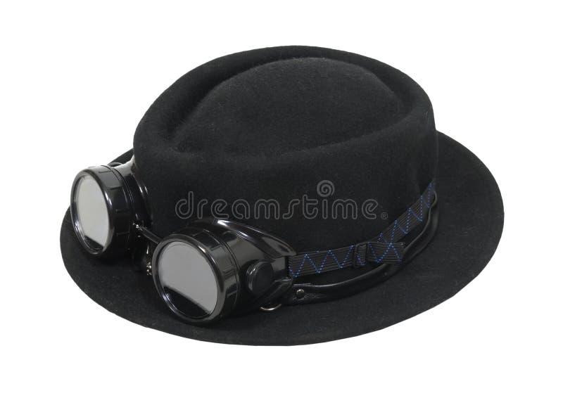 Chapeau noir et lunettes photographie stock