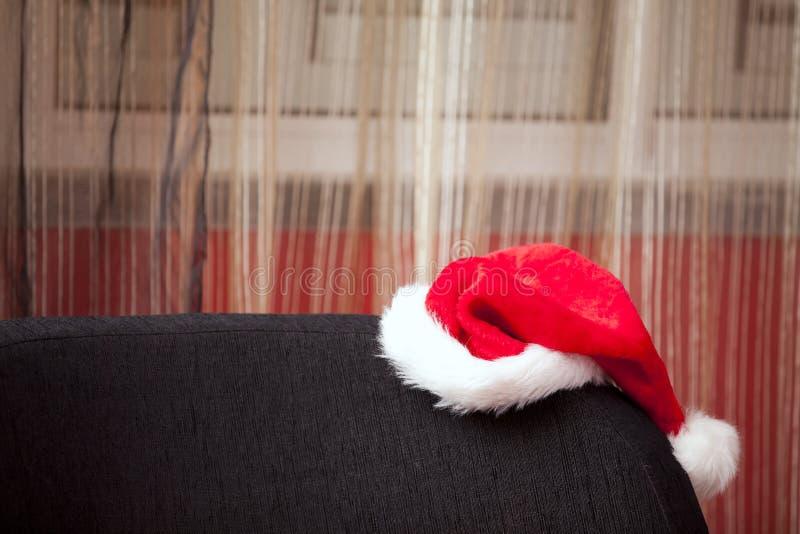 Chapeau perdu de Noël images libres de droits