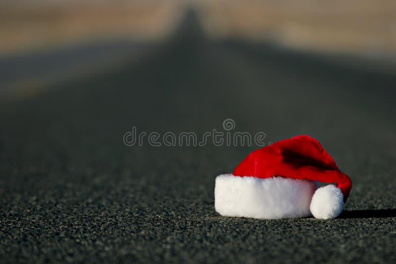 Chapeau perdu de Santa images libres de droits