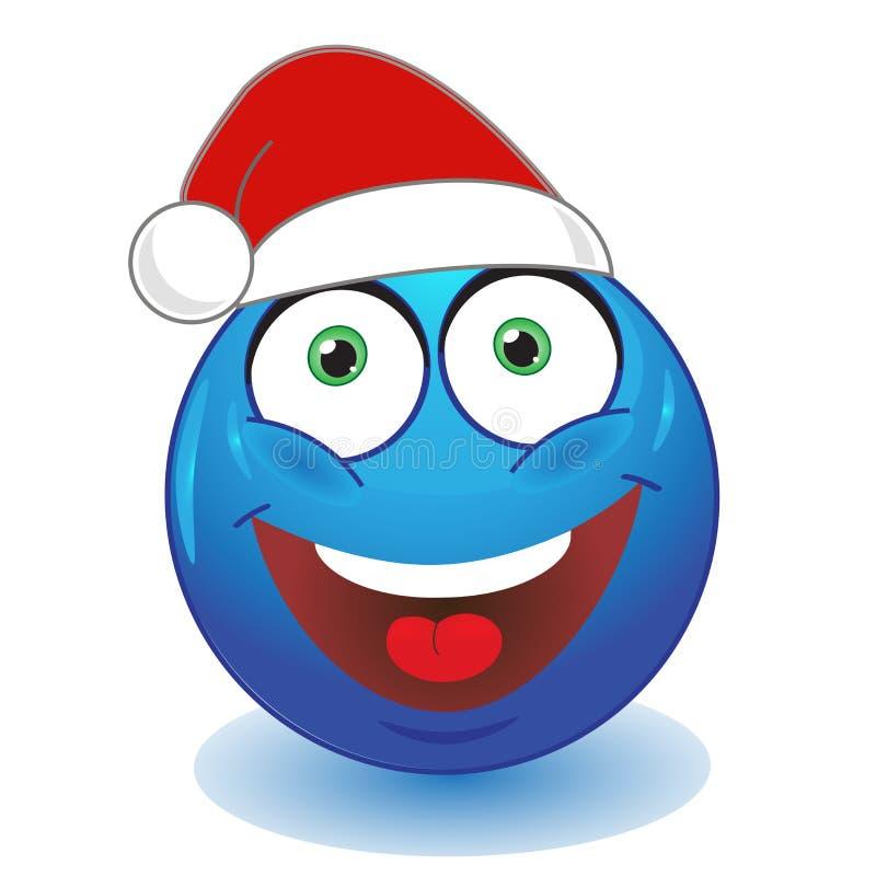 Chapeau rouge souriant bleu illustration stock