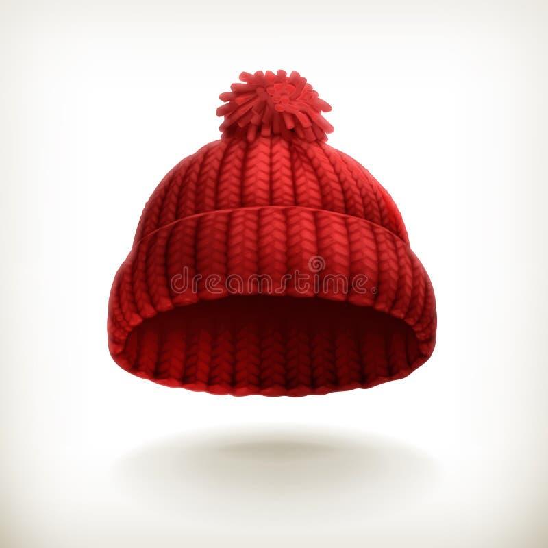 Chapeau rouge tricoté illustration libre de droits
