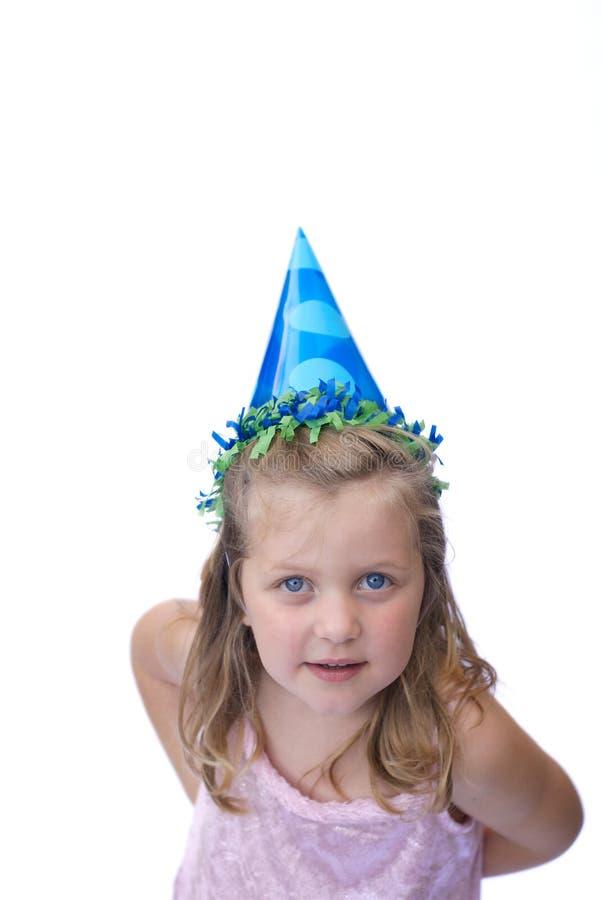 Chapeau s'usant de réception de jeune fille images stock