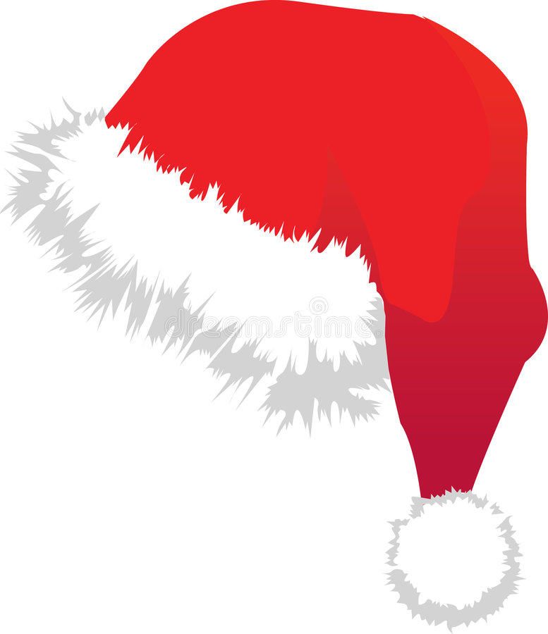 chapeau Santa de Noël illustration stock